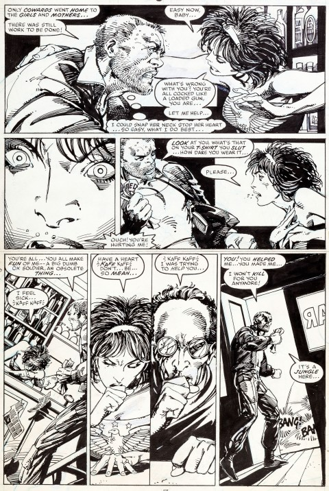 Daredevil issue 236 page 7 by Barry Windsor-Smith and Bob Wiacek. Source.