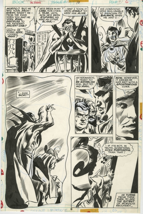Doctor Strange issue 10 page 4 by Gene Colan and Frank Chiaramonte.  Source.