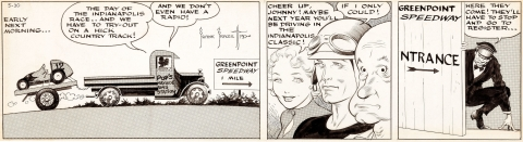 Johnny Comet Daily 5-30-1952 by Frank Frazetta.  Source.