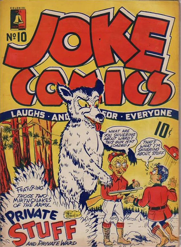Superb Cover for Joke Comics No