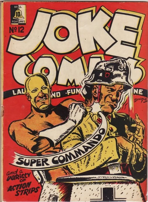 Cover for Joke Comics No. 12, Coincidentally, the first appearance of Aram Alexanian's Super Commando.