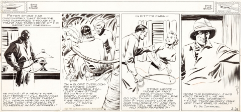 Jungle Jim Daily 3-31-1940 by Alex Raymond.  Source.