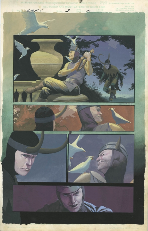 Loki issue 2 page 15 by Esad Ribic.  Source.