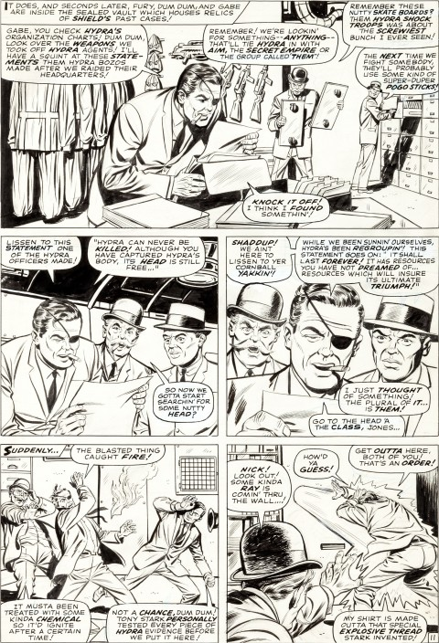 Strange Tales issue 149 page 11 by Jack Kirby and Ogden Whitney. Source.
