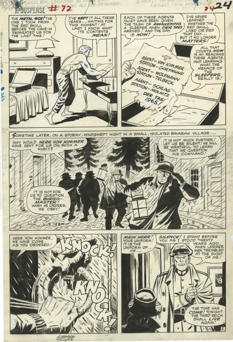 Tales Of Suspense issue 72 page 5 by Jack Kirby and George Tuska.  Source.