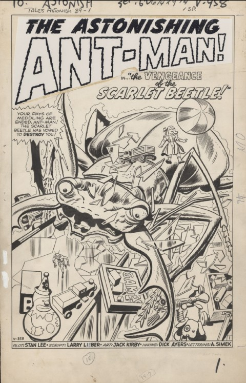 Tales To Astonish issue 39 splash by Jack Kirby and Dick Ayers.  Source.