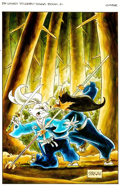 Usagi Yojimbo Saga issue 2 cover by Stan Sakai.  Source.