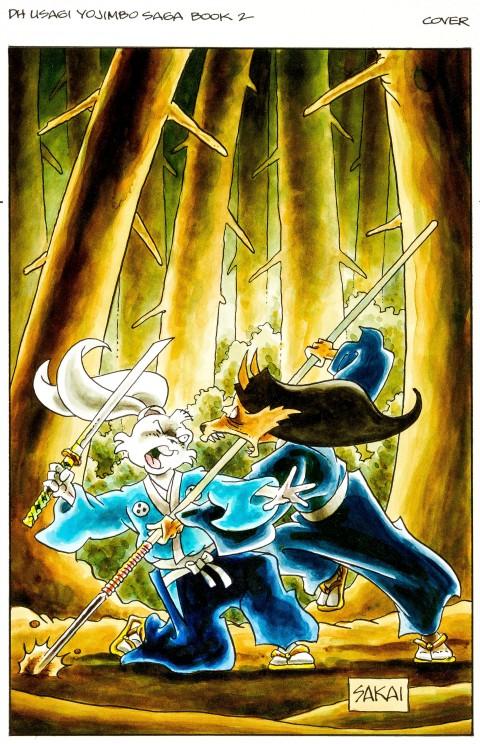Usagi Yojimbo Saga issue 2 cover by Stan Sakai.  Source.