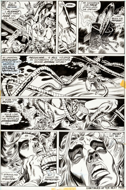 Warlock issue 3 page 12 by Gil Kane and Tom Sutton.  Source.