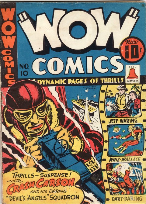 The cover for the first Wow Comics No. 10