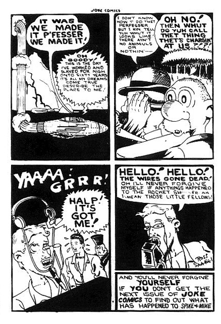Last page of the Spike and Mike story from Joke Comics No. 10