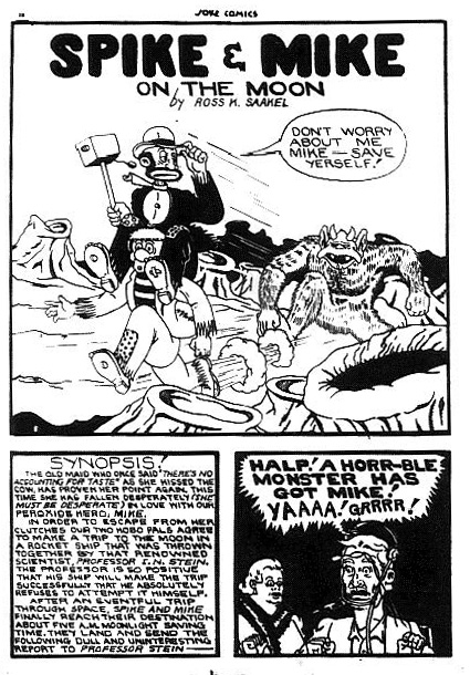 Splash page from the Spike and Mike story from Joke Comics No. 12
