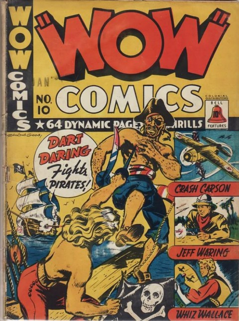 The cover for the second Wow Comics No. 10