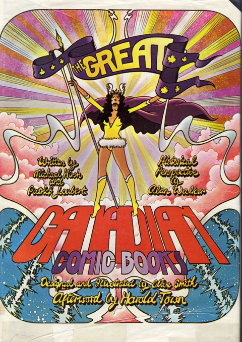 The original dust jacket for The Great Canadian Comic Books in 1971