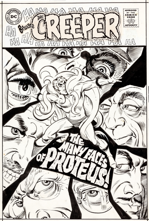 Beware The Creeper issue 2 cover by Steve Ditko.  Source.