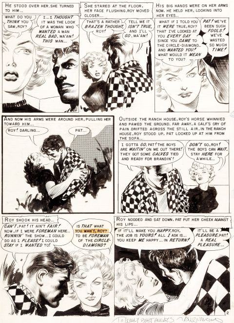 Crime Suspenstories issue 12 page 2 by Al Williamson and Frank Frazetta.  Source.