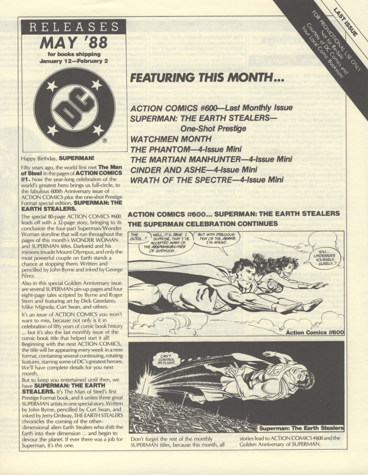 Time Capsule: DC Releases May '88