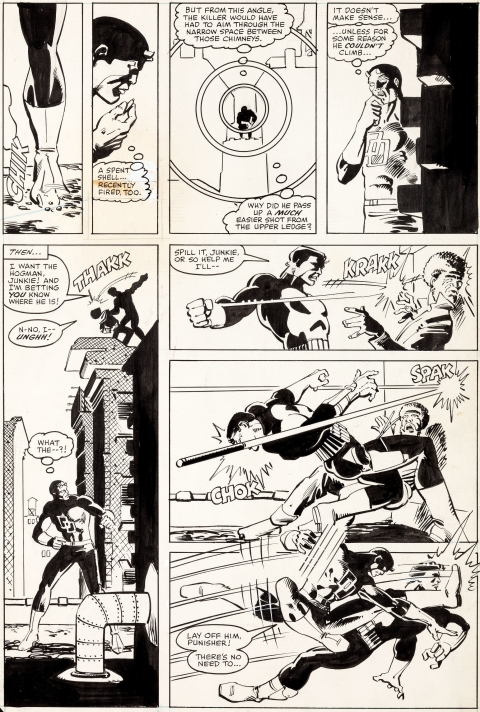 Daredevil issue 183 page 18 by Frank Miller and Klaus Janson.  Source.
