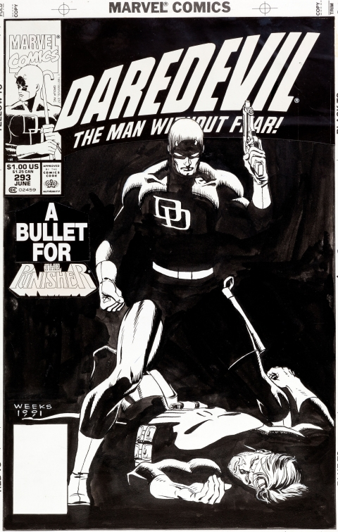 Daredevil issue 293 cover by Lee Weeks.  Source.