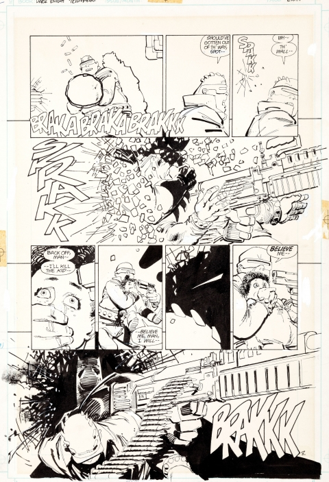 Dark Knight Returns issue 2 page 8 by Frank Miller and Klaus Janson.  Source.