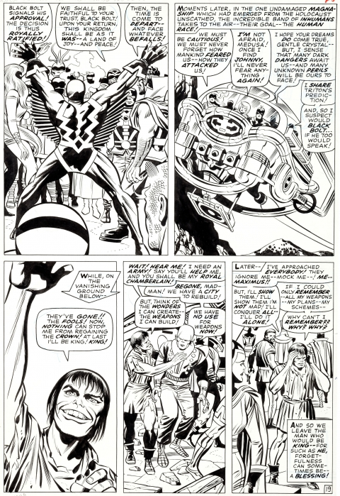 Fantastic Four issue 59 page 19 by Jack Kirby and Joe Sinnott.  Source.