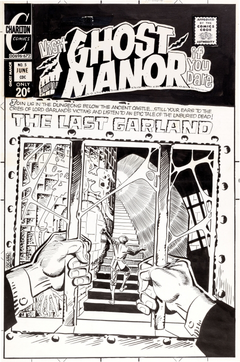 Ghost Manor issue 5 cover by Steve Ditko. Source.