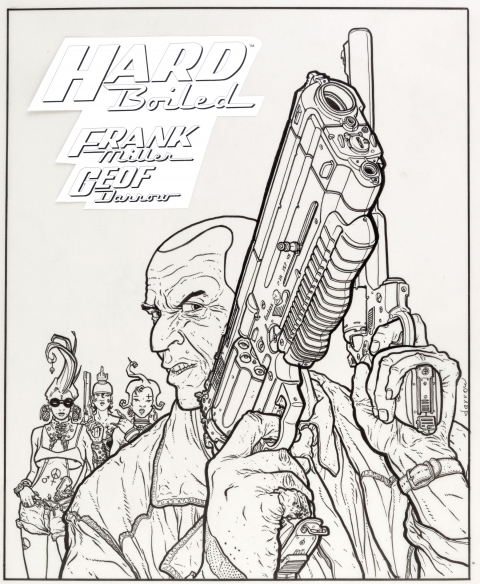 Hard Boiled foreign trade cover by Geof Darrow. Source.