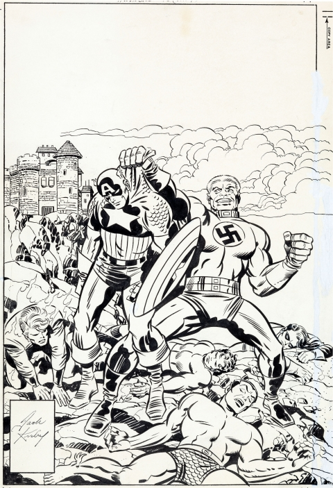 Invaders issue 16 cover by Jack Kirby and Joe Sinnott.  Source.