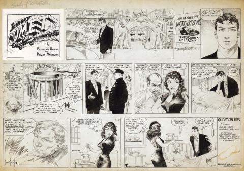 Johnny Comet Sunday 4-10-1952 by Frank Frazetta