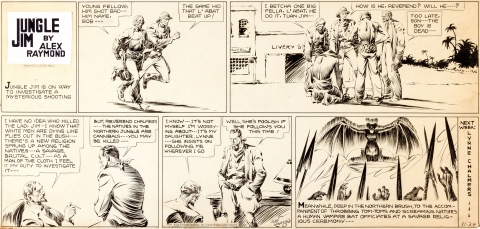 Jungle Jim Sunday 11-24-1935 by Alex Raymond. Source.