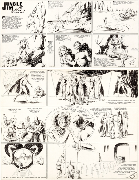Jungle Jim and Flash Gordon Sunday 1-27-1935 by Alex Raymond.  Source.