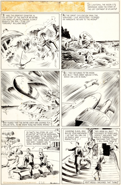 Mandrake The Magician Sunday 6-26-1938 by Phil Davis. Source.