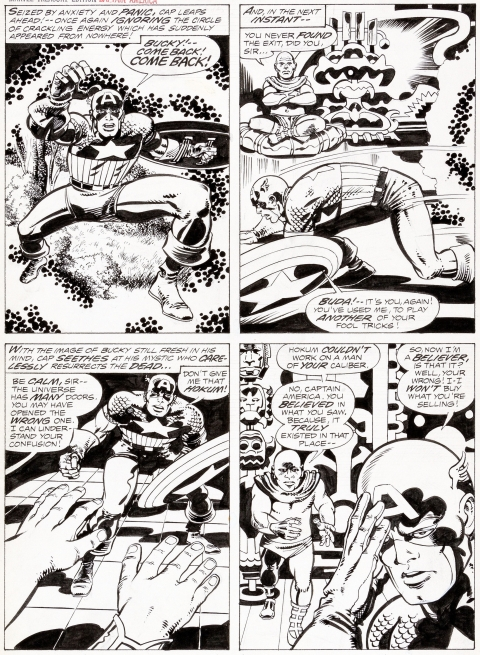 Marvel Treasury Special Featuring Captain America's Bicentennial Battles page 10 by Jack Kirby and Barry Smith.  Source.