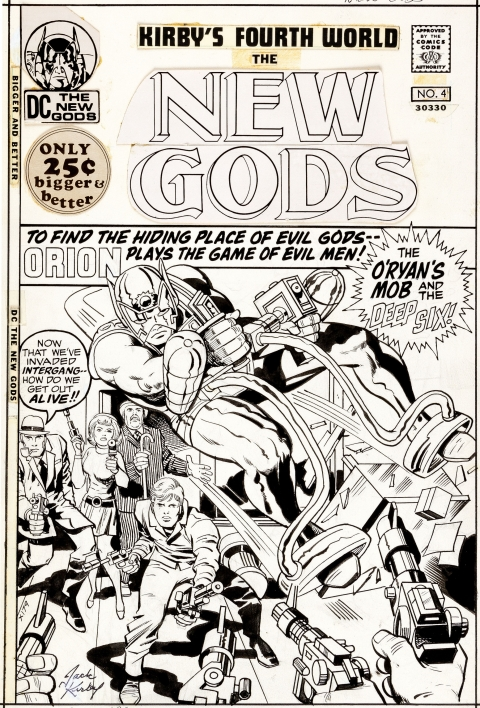 New Gods issue 4 cover by Jack Kirby and Vince Colletta.  Source.