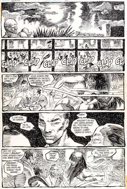 Ronin issue 1 page 6 by Frank Miller. Source.