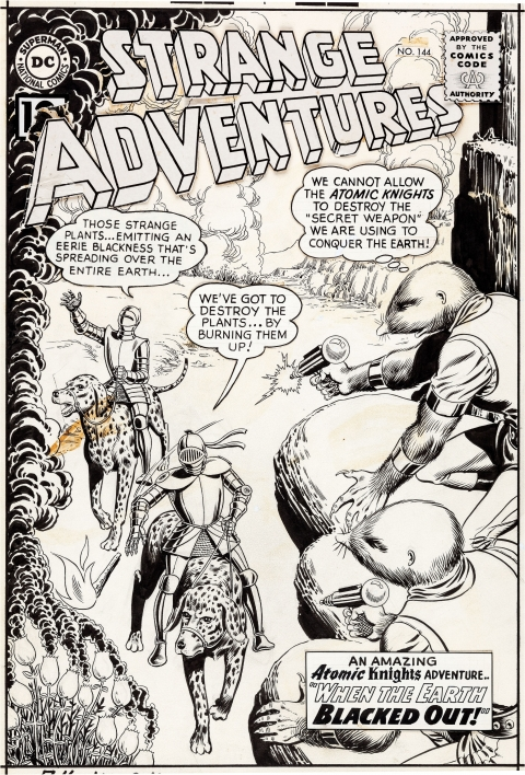 Strange Adventures issue 144 cover by Murphy Anderson.  Source.