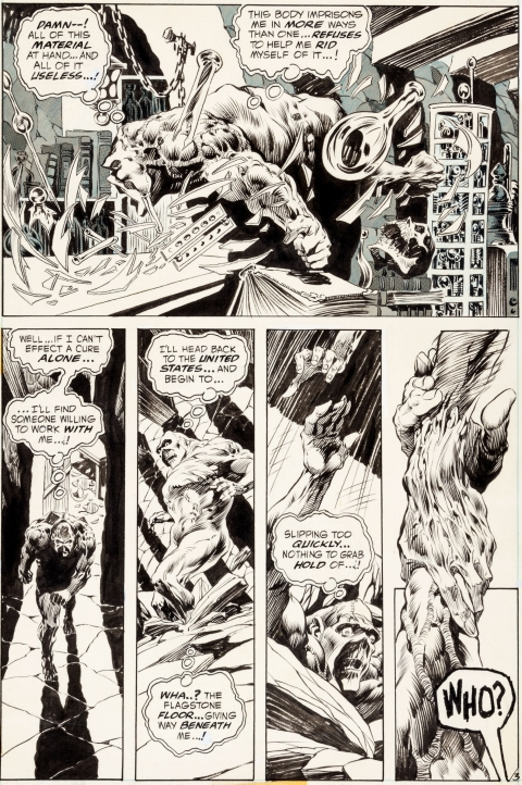 Swamp Thing issue 3 page 3 by Bernie Wrightson.  Source.