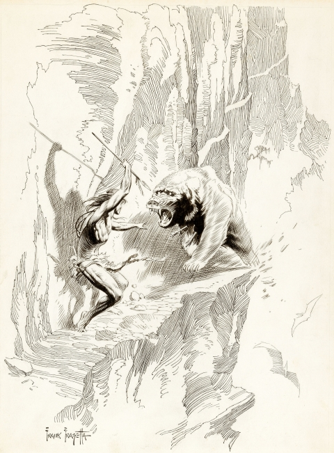 Tarzan by Frank Frazetta.  Source.