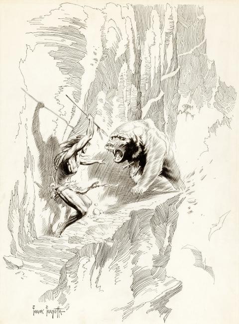 Tarzan by Frank Frazetta.  Source.