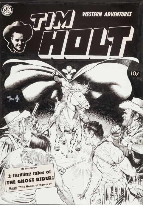 Tim Holt issue 2 cover by Frank Frazetta. Source.