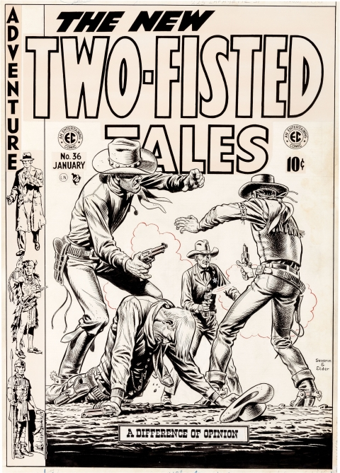 Two-Fisted Tales issue 36 cover by John Severin and Bill Elder.  Source.