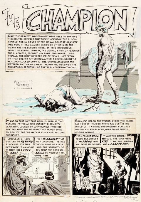 Valor issue 2 The Champion splash by Al Williamson.  Source.