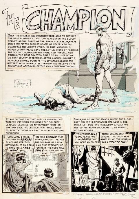 Valor issue 2 The Champion splash by Al Williamson.  Source.