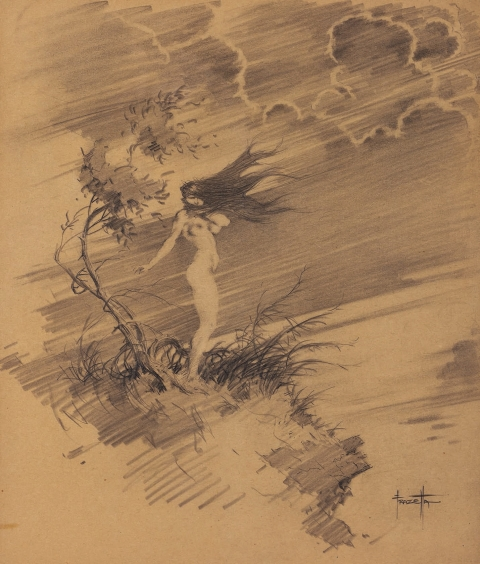 Windblown by Frank Frazetta