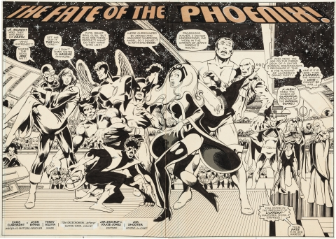 X-Men issue 137 pages 2-3 by John Byrne and Terry Austin.  Source.
