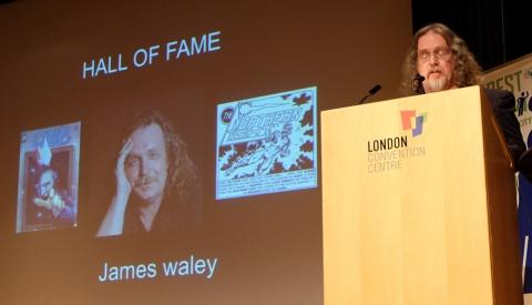 James Waley at the podium.