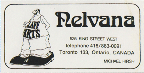 Early Nelvana business card