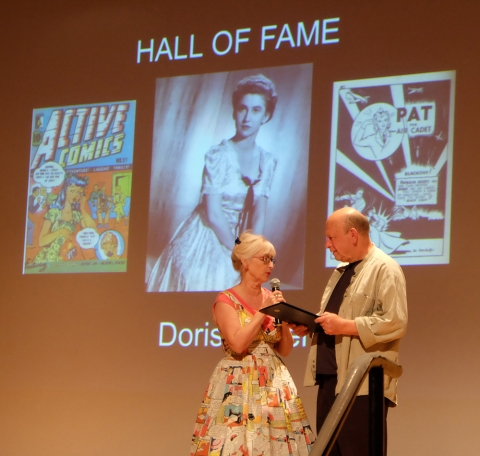 Patti accepting the Hall of Fame Award for her mother.