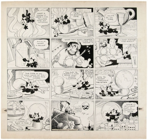 Felix The Cat Sunday 03-24-1935 by Otto Messmer