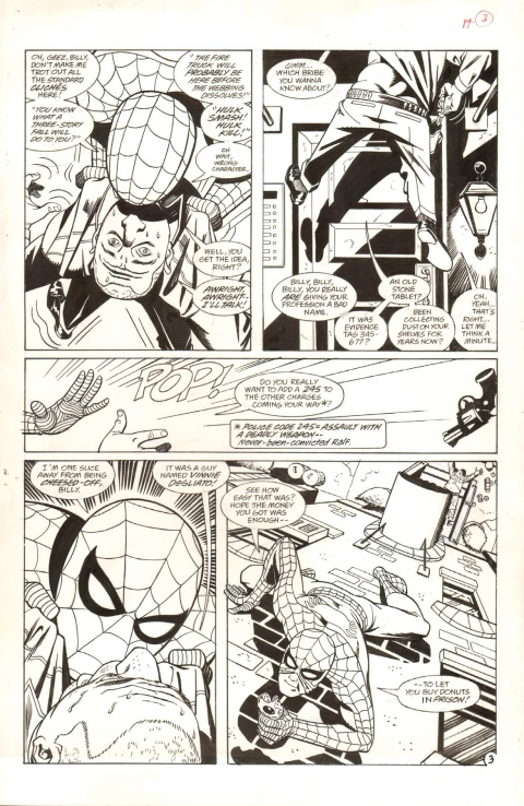 Spider-Man Lifeline issue 2 page 3 by Steve Rude and Bob Wiacek